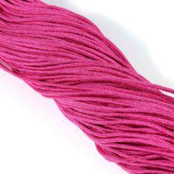Sötét rózsaszín 2 mm vastag paracord stílusú fonott zsinór