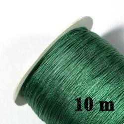 10 m Sötét Tengerzöld 0.8 mm vastag fonott selyemszál