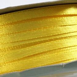 Szaténszalag 3 mm citromsárga