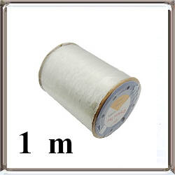 Áttetsző szilikongumi gumis damil fűzőszál 0.7 mm