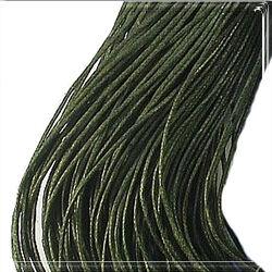 Viaszolt kord szál 1 mm olajzöld