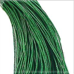 Viaszolt kord szál 1 mm zöld
