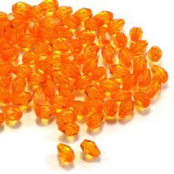 7x5 mm Közép narancs csepp alakú akril gyöngy