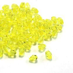 7x5 mm Sárga csepp alakú akril gyöngy