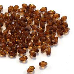 7x5 mm Sötét barna csepp alakú akril gyöngy