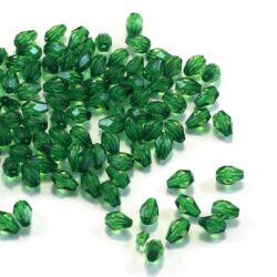 7x5 mm Sötétzöld csepp alakú akril gyöngy