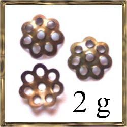 2g Antikkolt bronz daisy gyöngykupak 6 mm NIKKELMENTES