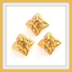 10 db Aranyozott csillagvirág gyöngykupak NIKKELMENTES