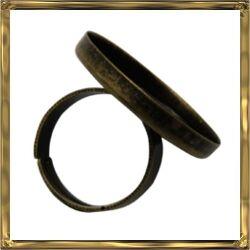 Antikolt bronz tányéros gyűrű alap 25 mm NIKKELMENTES