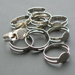 10 db Ródiumos lapkás gyűrű alap