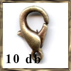 10 db Antikolt bronz delfinkapocs NIKKELMENTES