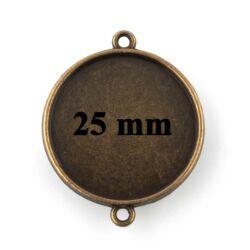 Antikolt bronz színű 25 mm kerek két oldalas kapcsoló elem NIKKELMENTES
