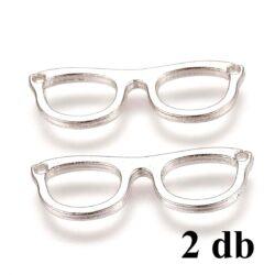 2 db Antikolt ezüst színű szemüveg kapcsoló elem NIKKELMENTES