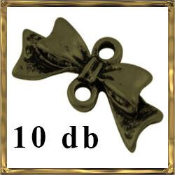 10 db Antikolt bronz színű, masni kapcsoló elem NIKKELMENTES