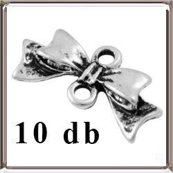 10 db Antikolt ezüst színű, masni kapcsoló elem NIKKELMENTES
