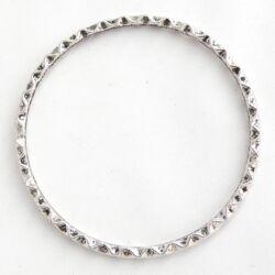 Antikolt ezüst színű nagyméretű cikkcakk mintás karika