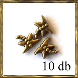 10 db Antikolt bronz színű szitakötő köztes NIKKELMENTES