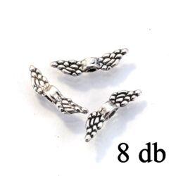 Antikolt ezüst színű szárnyas köztes gyöngy NIKKELMENTES 8 db