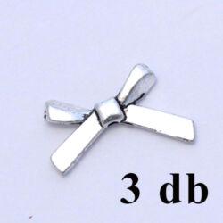 3 db Antikolt ezüst színű masni alakú köztes gyöngy