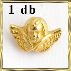 Aranyozott 3D angyal köztes 1 db