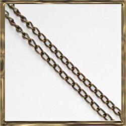 Antikolt bronz extra vékony csavart szemű lánc 50 cm NIKKELMENTES