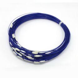 Merev sodrony nyaklánc Kék NIKKELMENTES