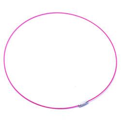 Merev sodrony nyaklánc Pink NIKKELMENTES