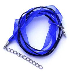 Kék Organza nyaklánc alap
