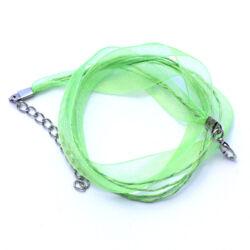 Organza nyaklánc alap Lime