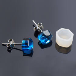 1 pár Hatszögletű fülbevaló szilikon öntőforma