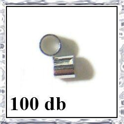 100 db Ezüstözött réz cső stopper 2x2 mm NIKKELMENTES