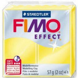 Fimo Effect süthető gyurma 56g Áttetsző sárga / Transparent yellow 104