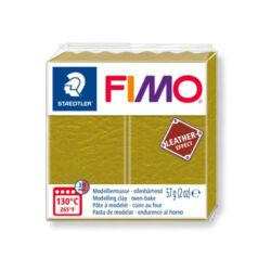 Fimo Leather süthető gyurma 56g Olivazöld / Olive 519
