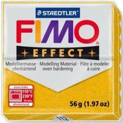 Fimo Effect süthető gyurma 56g Arany csillámos / Glitter gold 112