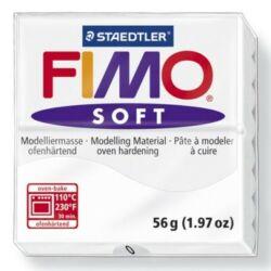 Fimo Soft süthető gyurma 56g Fehér / White 0