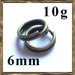 10 g Antikolt bronz dupla szerelőkarika
