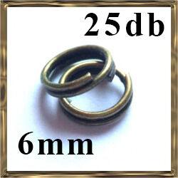 25 db Antikolt bronz dupla szerelőkarika