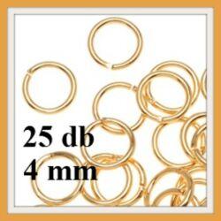 25 db Aranyozott szerelőkarika 4 mm NIKKELMENTES
