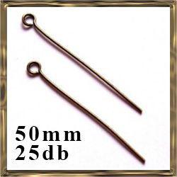 25 db Antikolt bronz szemes szerelőpálca 50 mm NIKKELMENTES
