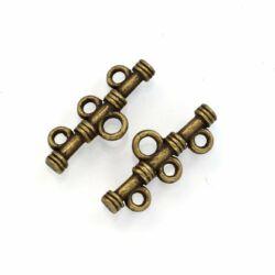 2 db Antikolt bronz színű 3 soros távtartó rúd NIKKELMENTES