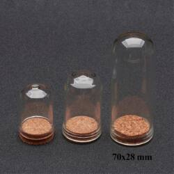70x28 mm üvegbúra üvegcse parafadugóval