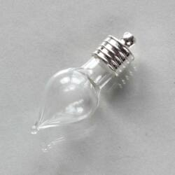 Csepp alakú üvegcse dugóval akasztóval