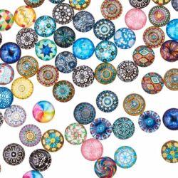 12 mm Vegyes Mozaik mintás üveglencse