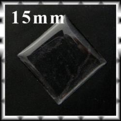 Áttetsző öntapadós matrica négyzet 15x15 mm
