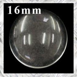 Lapos hátú áttetsző üveglencse edzett üvegből 16 mm