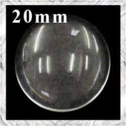 Lapos hátú áttetsző üveglencse edzett üvegből 20 mm