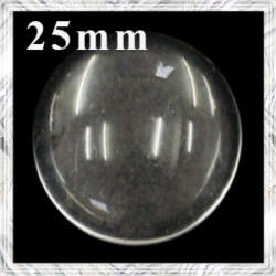Lapos hátú áttetsző üveg lencse edzett üvegből 25 mm