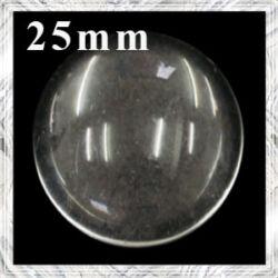 Lapos hátú áttetsző üveglencse edzett üvegből 25 mm