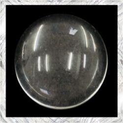 Lapos hátú áttetsző üveglencse edzett üvegből 14 mm