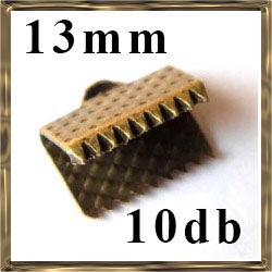 10 db Antikolt bronz szalagvég 13 mm NIKKELMENTES